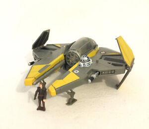 Star Wars Transformers Anakin Skywalker Jedi Starfighter 2005 Hasbro Complete