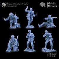 Soldatini di Plastic Platoon  Soldati tedeschi con mortaio Plastica gommata 1/32
