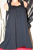 NEW LOOK black elasticated top maternity dress size 12