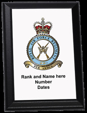 Personalised Wall Plaque - Royal Air Force Regiment Crest Old Style RAF