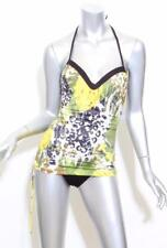 ANNA CLUB BY LA PERLA Womens Multi-Color Ruched Halter One-Piece Swimsuit 8 NEW