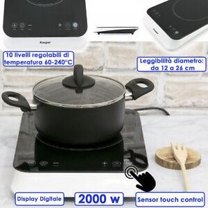 Placa Tales Inducción Individual 2000w Magnetica Piso Cocinar Estufa Templado