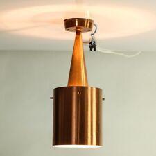 Decken Leuchte Kupfer Lamellen Lampe Vintage Denmark 1960's Mid Century