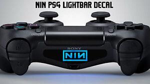 nine inch nails playstation ps4 controller light decal sticker vinyl NIN