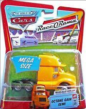 Disney Cars Octane Gain Semi Truck - RaceORama Race O Rama Yellow Mega Size New