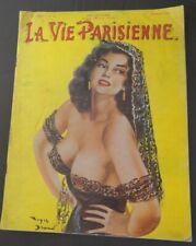 La VIE PARISIENNE Feb. 1958 Large French Spicy Figure Photo Tabloid Magazine vv