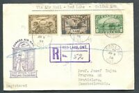 CANADA #155, C1, C4 FOREIGN DESTINATION AIR MAIL COVER TO CZECHOSLOVAKIA