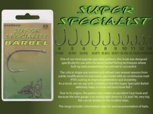 Drennan Super Specialist Barbel Hooks - All Sizes