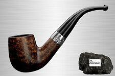 Peterson Rosslare Rustic 999 Pfeife Bent Rhodesian rustiziert mit 9mm Filter