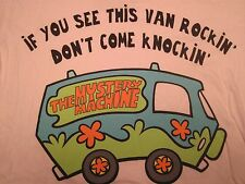 Scooby Doo, Mystery Machine,100% Cotton,Short Sleeve, Girls, Fitted, Shirt, MED