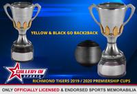 RICHMOND TIGERS 2019 / 2020 BACK2BACK PREMIERSHIP CUPS  - OFFICIAL AFL