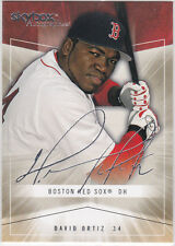 DAVID ORTIZ Autograph ics SKYBOX BASEBALL Big Papi Sigs Card BOSTON RED SOX