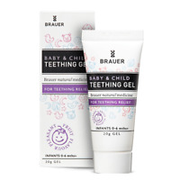 Brauer Baby & Child Teething Gel 20g Infants 0 - 6 Months+ Fruit Flavour
