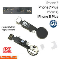 NEW iPhone 7 Plus Universal Complete Home Button Flex Cable Replacement - BLACK