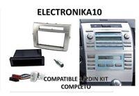 Soporte marco radio Toyota Corolla Verso 1- 2 DIN kit conexiones iso y antena
