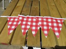 PVC RED CHECK GARDEN BUNTING