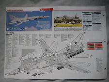 Cutaway Key Drawing of the Tupolev Tu-22M