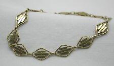 Vintage Very Pretty 14ct Gold Fancy Link Bracelet
