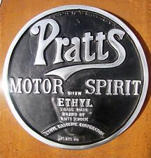 Pratts Motor Spirit sign cast sign aluminium Oil advert advertising petrol VAC17