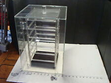 Clear Lucite Revolving Display Case