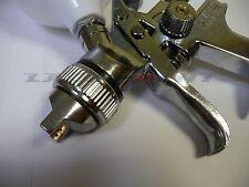HVLP 0,8mm Druckluft Lackierpistole mini mit Zubehör für Autolack, Klarlack neu