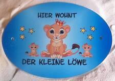 Fotodruck persönl. Türschild mit Wunschname Motiv LÖWE