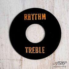 PLAQUE Les Paul RHYTHM/TREBLE Ring Toggle Switch Plate LP SG Gibson NOIR Black