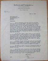 EDGAR SELWYN 1923 TLS Autograph/Sigined-Letter - Screenwriter/Producer