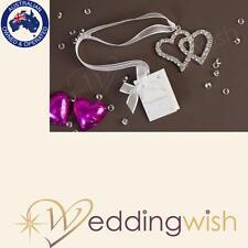 Diamante Hearts Wedding Good Luck Charm, Horse Shoe