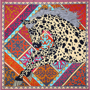 "Fashion Scarf Women's ""dots horse"" Print Hijab Square Large Shawl Wraps 51""*51"""