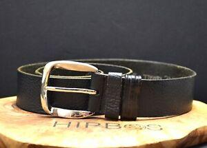 Next Vintage Womens Leather Jeans Belt Black Size XS