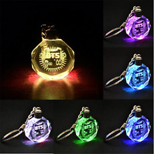 Cool KPOP BTS Bangtan Boys Jungkook Jimin Jin Rap Monster V LED Crystal Keychain
