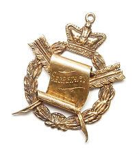 Antique Secretary Albert Fob Medal Gold On 925 Sterling Silver 1940's 18.4g