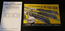 1939 ORIGINAL GILBERT AMERICAN FLYER CATALOG & BLANK ORDER FORM**EXCELLENT SHAPE