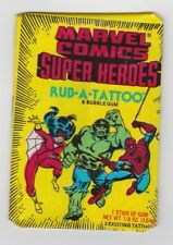 1980 Donruss MARVEL SUPER HEROES RUB-A-TATTOO Unopened Wax Pack