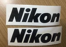 2 x Nikon Logo Decals / Stickers + Free Postage