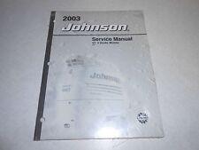 NEW 2003 4 HP 5 HP 4-STROKE OEM JOHNSON BRP Outboard Repair & Service Manual