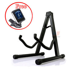 Folding Acoustic Bass Guitar Stand A Frame Floor Rack And Free  Guitar Tuner AU