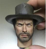 "Custom 1/6 Clint Eastwood Head Sculpt With Cigar Head Carving F 12"" Figure"
