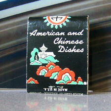 Rare Vintage Matchbook W9 Circa 1940 Washington Spokane American Chinese Garden