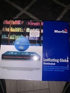 Magnetic Levitation Floating Earth Globe Map With Book Base Illuminated Cool UK