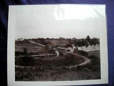 """Vintage Glass Plate Negative Aerial View """"COVERED BRIDGE"""" c1910 New York State"""