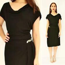 HUGO BOSS Designer Beaded Cowl Neck Evening Cocktail Dress Size AU 10 Eu 38