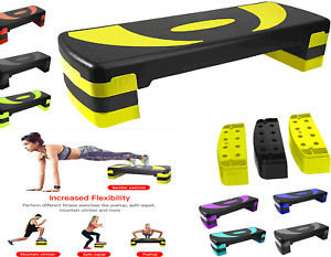 Aerobic Stepper Fitness Exercise for Home Gym Workout Routines 3Level 10 15 20cm