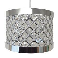 Modern Chrome Ceiling Pendant Light Shade Fitting Crystal Chandelier LED Lamp