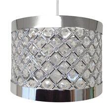 Modern Chrome Ceiling Pendant Light Shade Fitting Crystal Chandelier LED Lamp