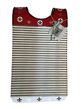 Washboard Zydeco Rubboard Red & White Free Scratchers Stainless Steel