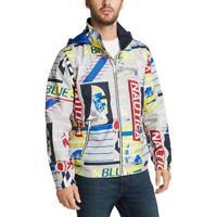 Nautica Blue Mens Gray Transom Lightweight Outerwear Jacket Coat L BHFO 8240