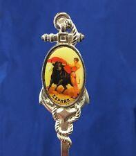 """Espana Collector's Spoon Spanispian Bull Riding Souvenir 5.25"""" Long"""