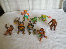 Ninja turtle action  figures lot of 9 1989-1993